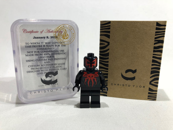 Christo Custom Pad Printed Edge of Time Spiderman LEGO Minifigure - LIMITED EDITION