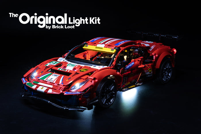 "LED Lighting Kit for LEGO® Ferrari 488 GTE ""AF Corse #51"" set 42125"