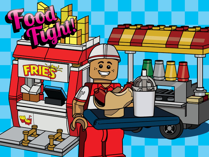 Brick-Loot-Box-Food-Fight-Hot-Dog-Cart-Fry-Stand-minifigure-Theme-Box-Brick-Loot-Monthly-Subscription-Boxes-are-fun-for-ages-6-99-for-all-who-love-LEGO-and-brick-building