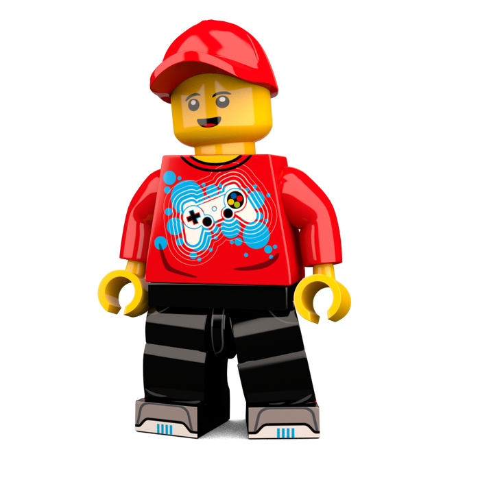Brick-Loot-Exclusive-Gamer-Custom-LEGO-Minifigure
