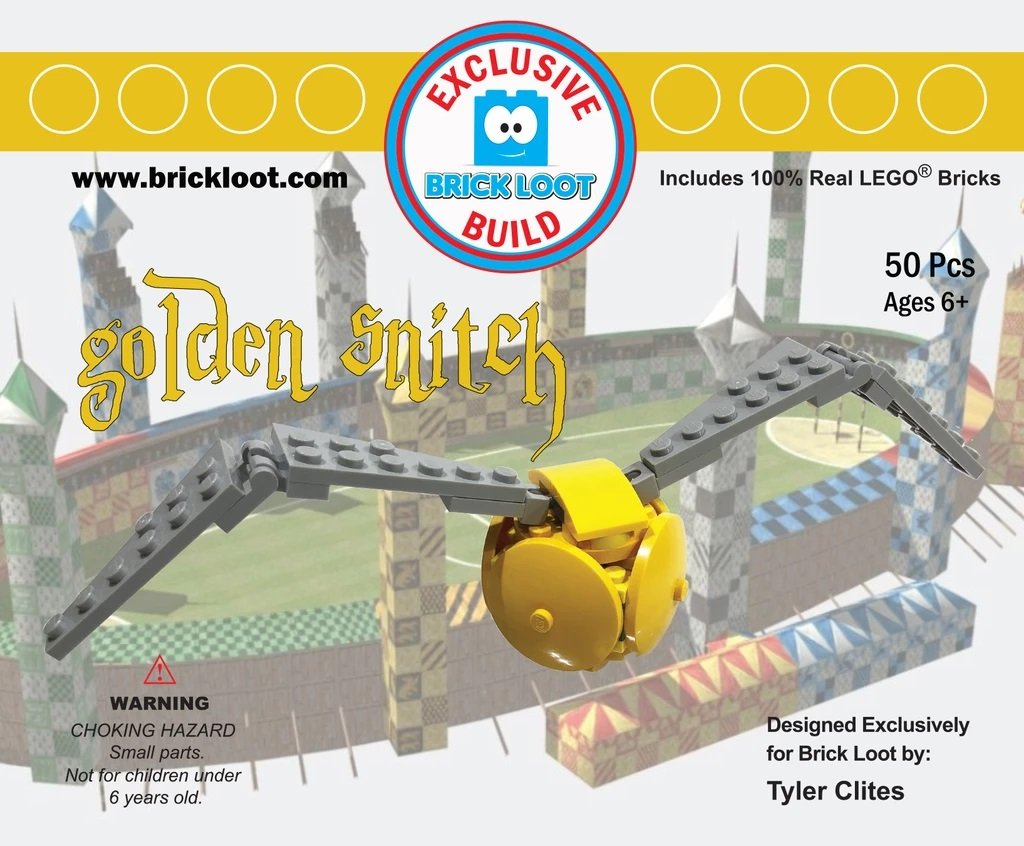 Exclusive-Brick-Loot-Build-Custom-LEGO-Set-100%-LEGO-Bricks-Golden-Snitch