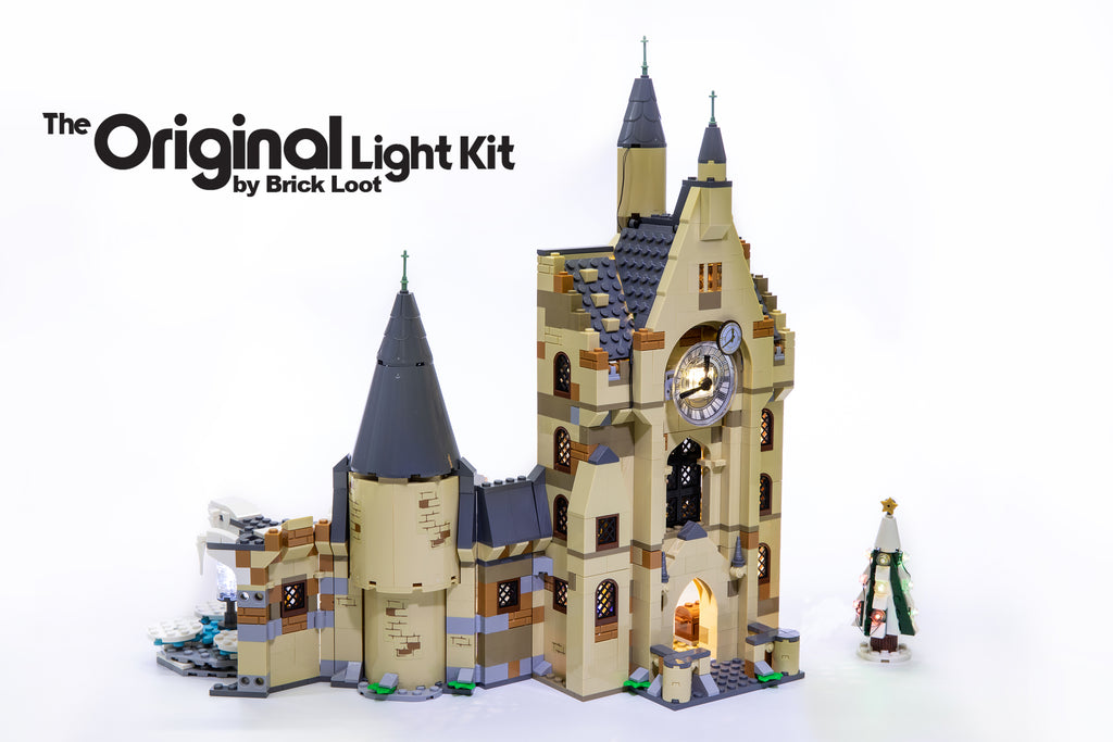 Brick-Loot-LED-Lighting-Kit-for-LEGO®- Harry-Potter-Hogwarts-Clock-Tower-set-75948