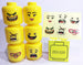 Brick-Loot-Party-Favor-LEGO-Yellow-Head-Case-With Sticker-Set-and-Box-and-Stickers-Applied