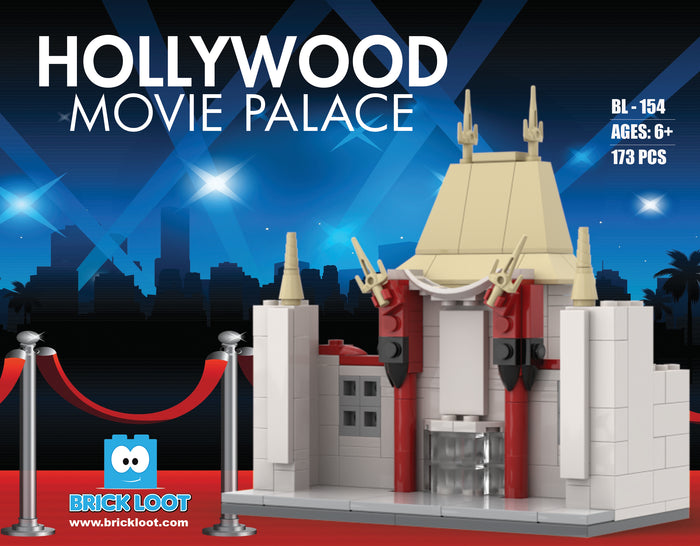 Brick Loot Build Hollywood Movie Palace theater custom bricks building blocks