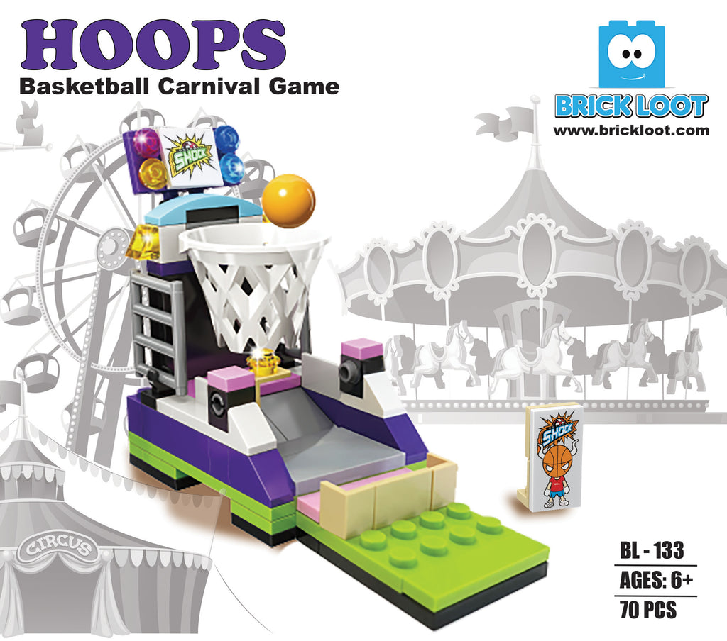 Brick-Loot-Hoops-Basketball-Carnival-Game-100%-LEGO-Compatible-Bricks