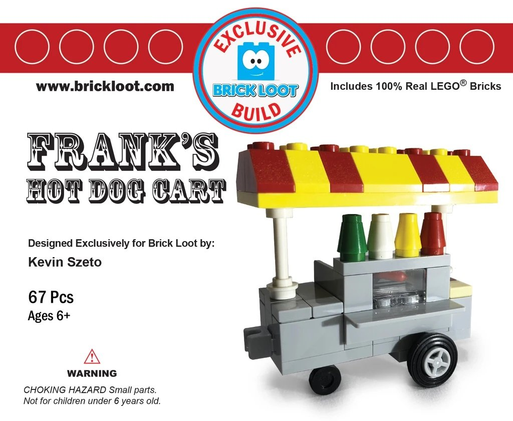 Exclusive-Brick-Loot-Build-Custom-LEGO-Set-100%-LEGO-Bricks-Hot-Dog-Cart