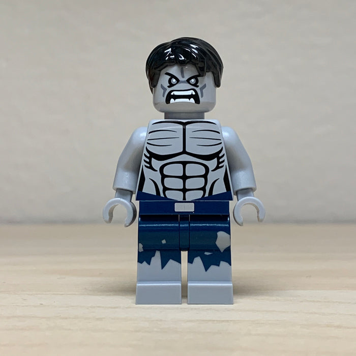 Christo Custom Pad Printed Grey Hulk LEGO Minifigure - LIMITED EDITION