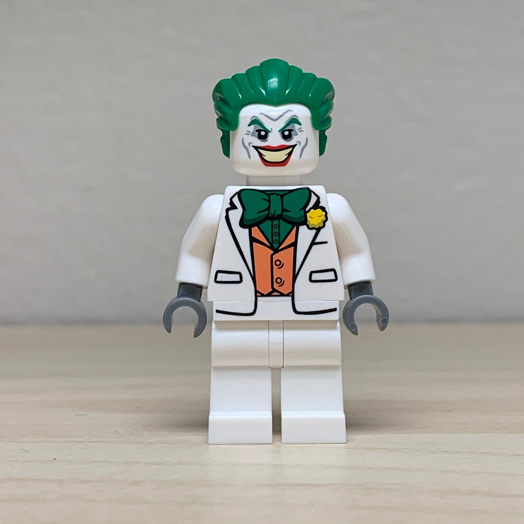 Christo Custom Pad Printed White Joker LEGO Minifigure - LIMITED EDITION