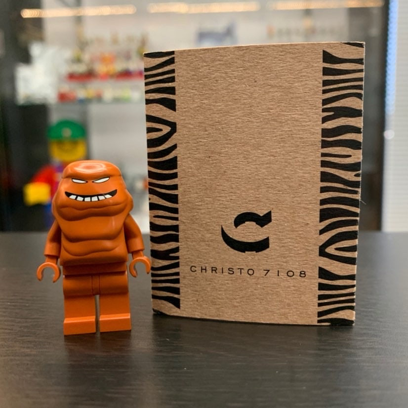 Christo Custom Pad Printed Clay Face LEGO Minifigure - LIMITED EDITION