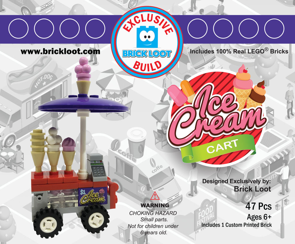 Exclusive-Brick-Loot-Build-Ice-Cream-Cart-100%-LEGO