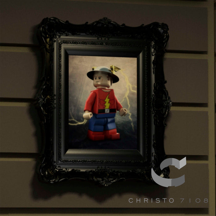 Christo Custom Fine Art Brick Painting  - Jay Garrick - LIMITED EDITION