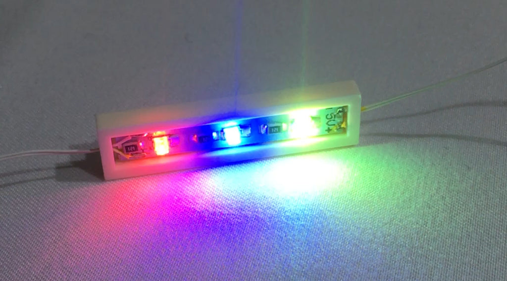 1 x 4 LED Plates - LIGHT LINX - Create Your Own LED String - works with LEGO bricks - by Brick Loot