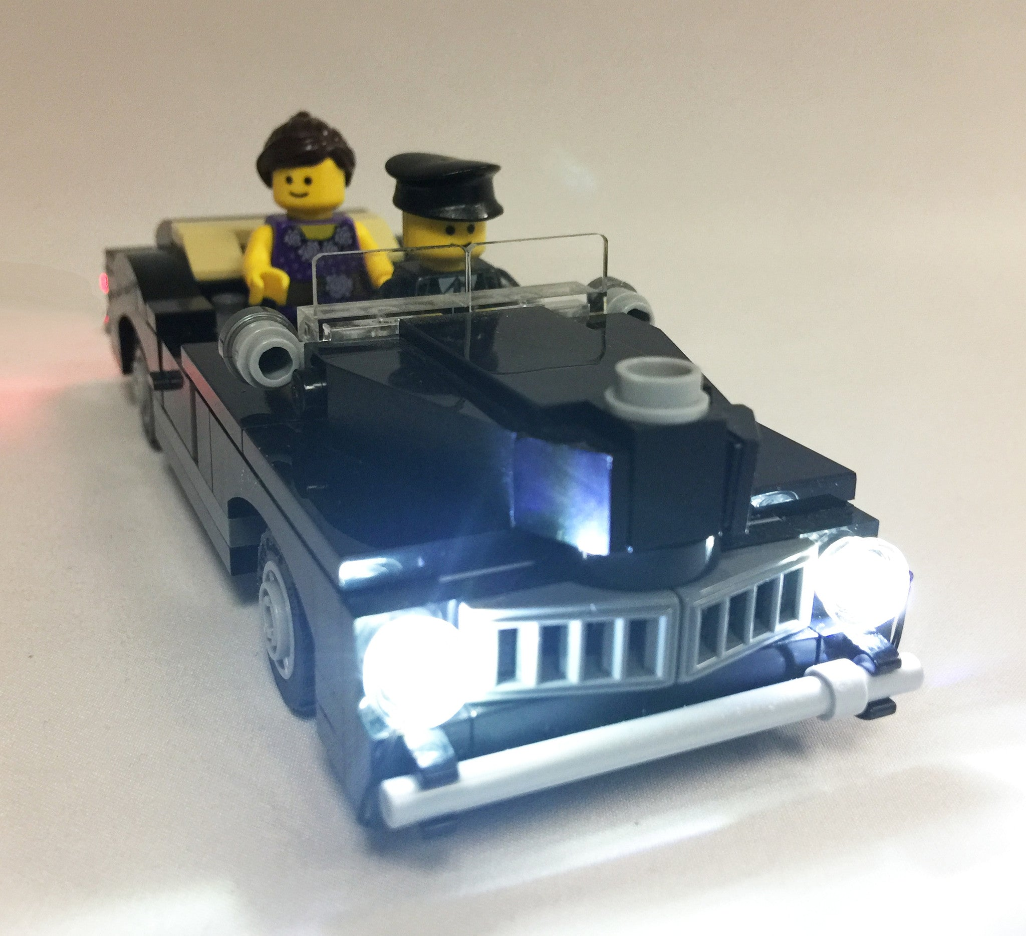 LED Lighting Kit for LEGO Cars - Double Clear and Double Red LED for Front and Rear Lights - USB