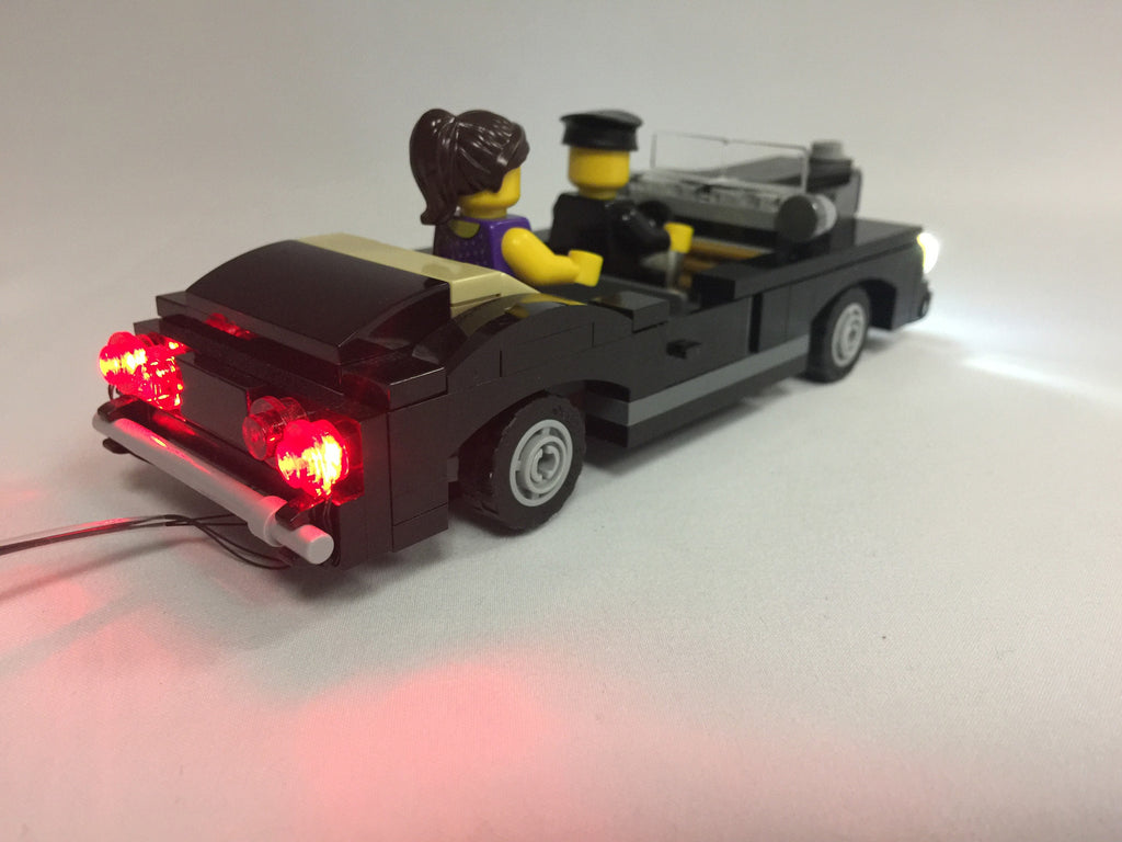 Brick Loot LED Lighting Kit for LEGO Cars - Double Clear and Double Red LED Car Kit for Front and Rear Lights. LEGO set (pictured) not included.