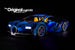 LEGO Bugatti Chiron set 42083 with the custom Brick Loot LED Light Kit installed.