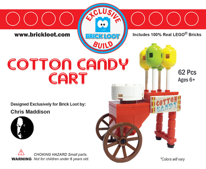 Exclusive Brick Loot Cotton Candy Machine by Chris Maddison - 100% LEGO