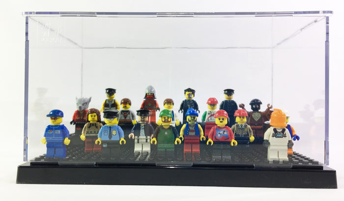Large Minifigure Display Case for LEGO and Other Major Brand Minifigs