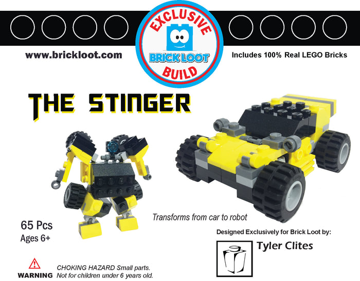 Exclusive Brick Loot The Stinger by Tyler Clites - 100% LEGO
