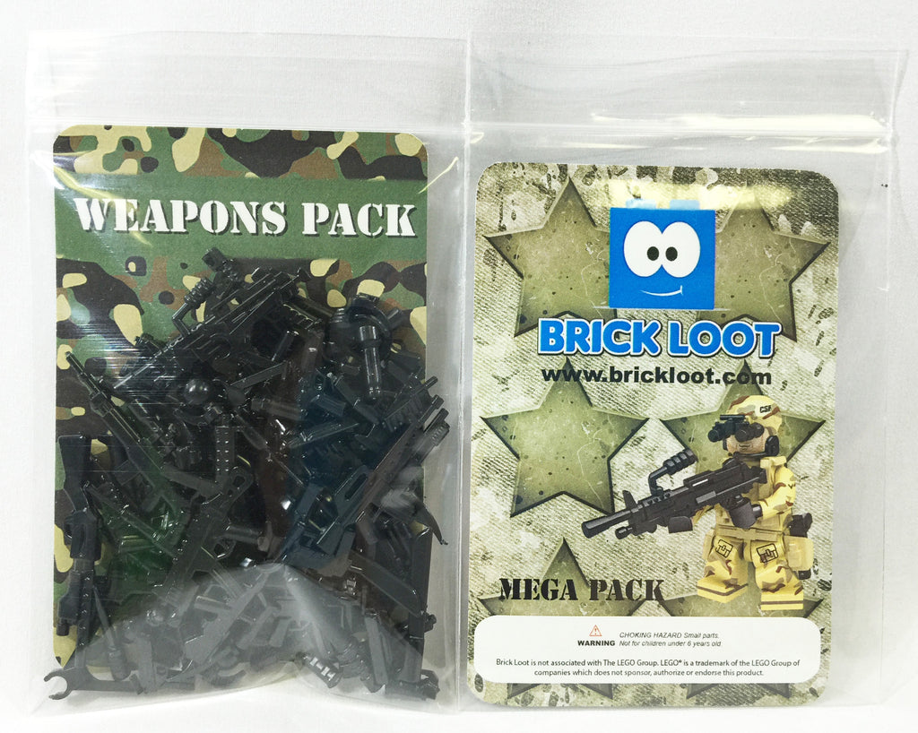Brick Loot Exclusive Minifgure Weapons 86 Pack 100% LEGO® Compatible