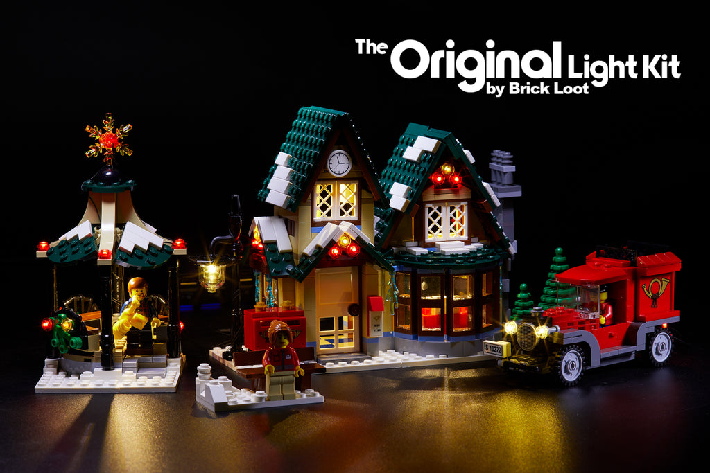 Brick Loot LED Lighting Kit for LEGO Winter Village Post Office set 10222. Brilliant at night!