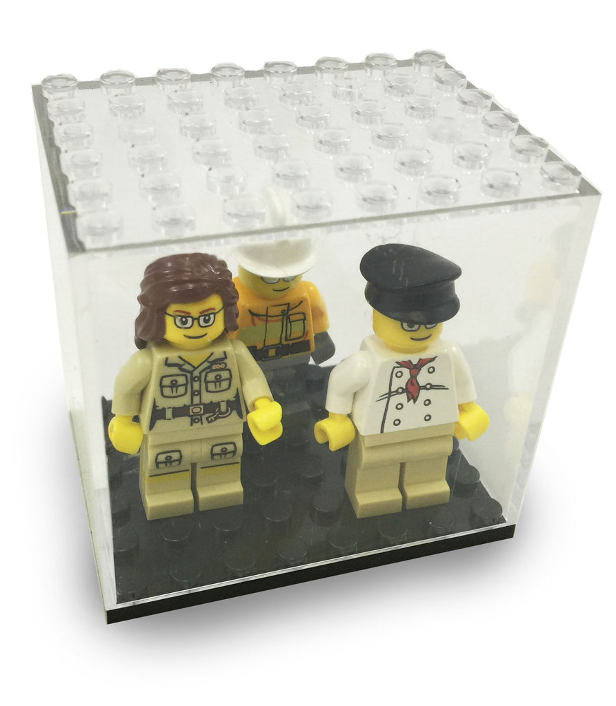 Minifigures Display Case for LEGO and Other Major Brands Minifigs
