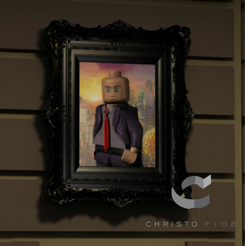 Christo Custom Fine Art Brick Painting  - Lex Luther - LIMITED EDITION