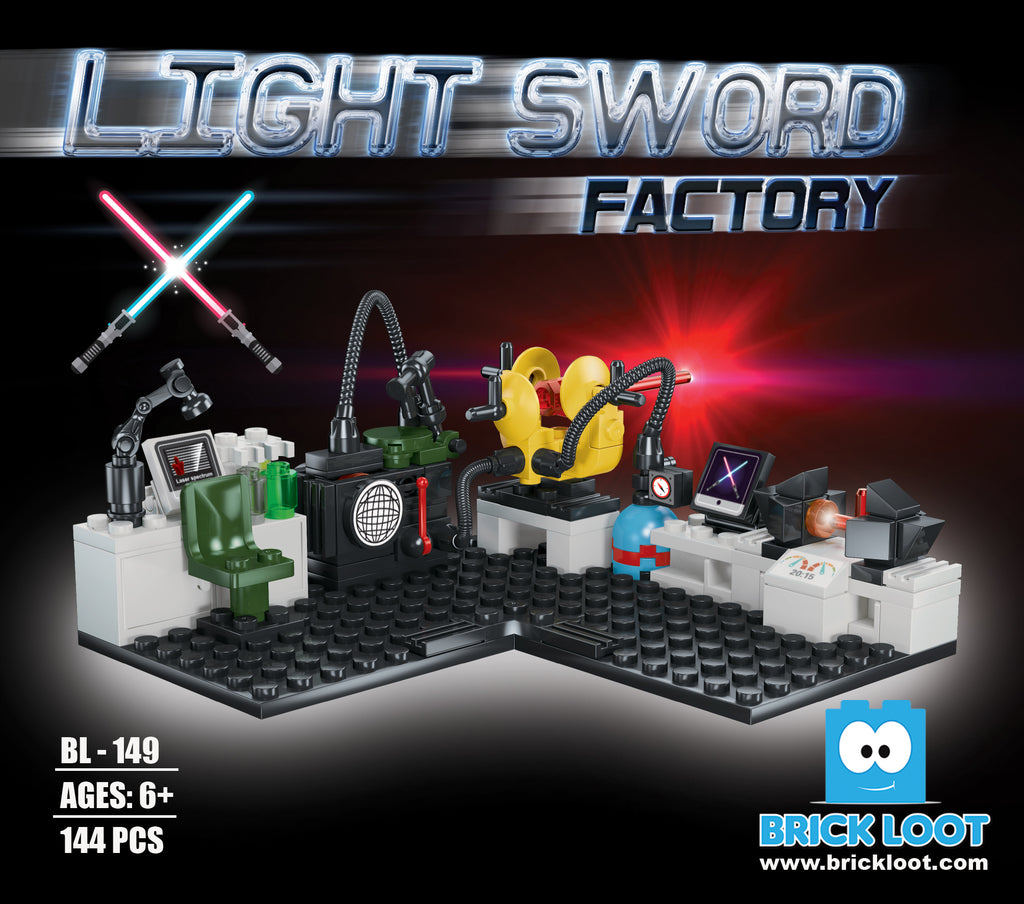 Brick Loot Light Sword Factory Brick Set 100% LEGO® Compatible pretend to make lightsabers for your jedi minifigures