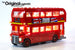 LEGO London Bus set 10258, brilliantly illuminated with the Brick Loot LED Light Kit.
