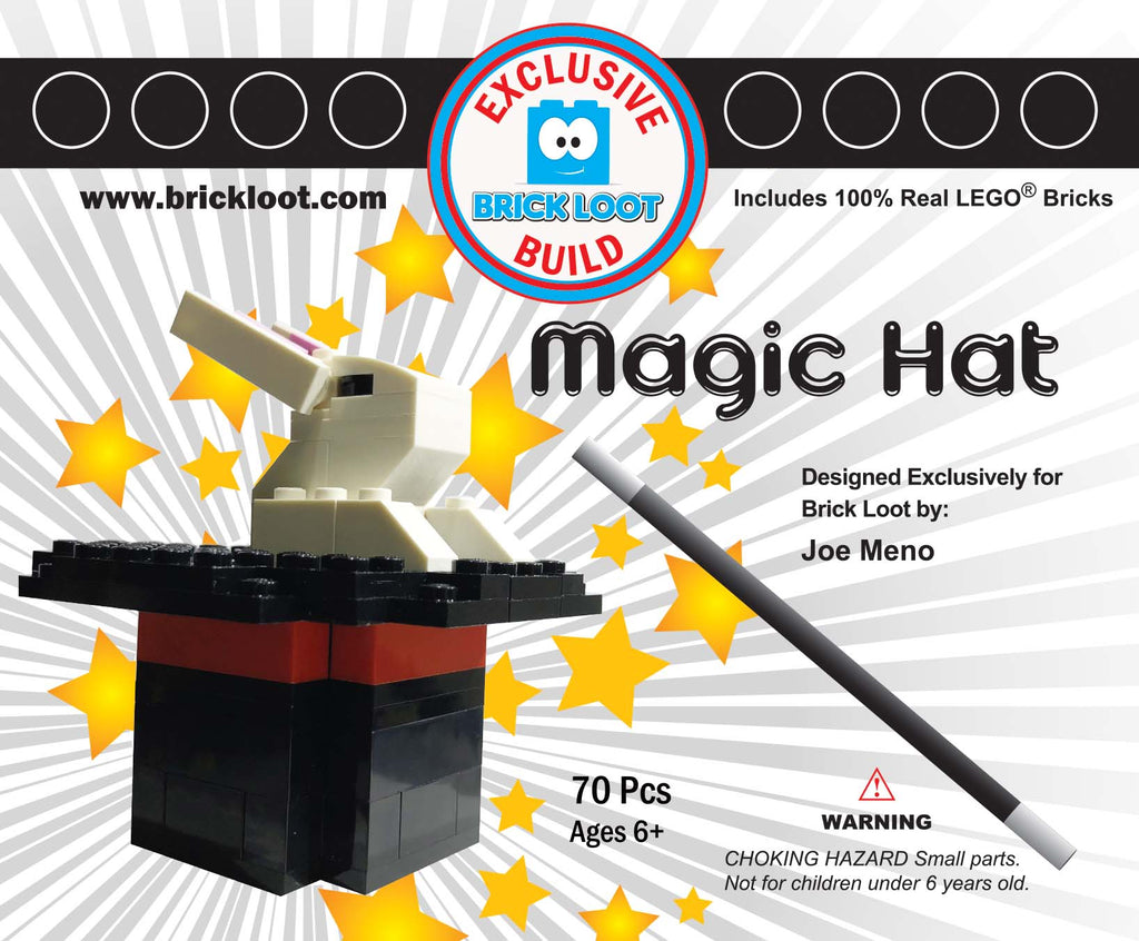 Exclusive Brick Loot Build Magic Hat by Joe Meno – 100% LEGO Bricks