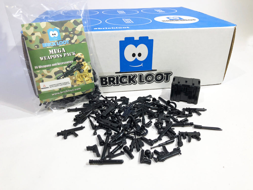 Mega Pack 86 Weapons For Lego /& Other Minifigures Bricks Blocks Accessories NEW!
