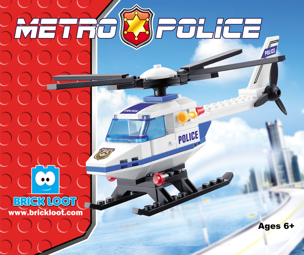 Brick-Loot-Police-Helicopter-100%-LEGO-Compatible-Bricks