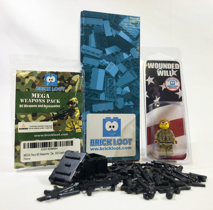 Brick Loot Exclusive LEGO® Minifigure and Military Bundle toy minifigure scale items