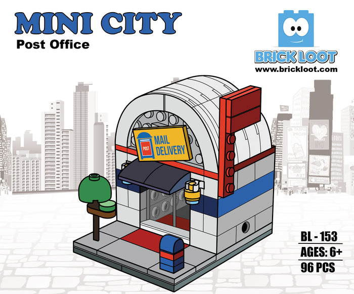 Brick Loot Mini City Post Office - a fun build with 96 high quality Brick Loot bricks, compatible with LEGO and all major brand bricks!!