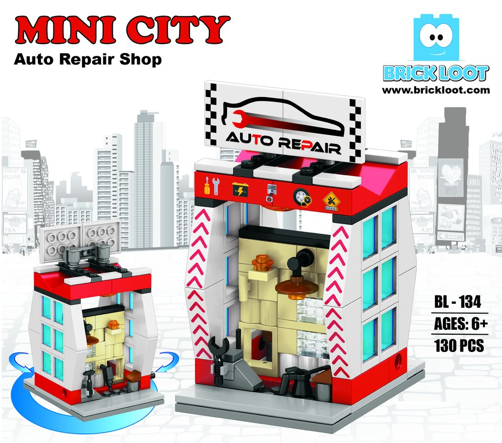 Brick-Loot-Mini-City-Auto-Repair-Shop
