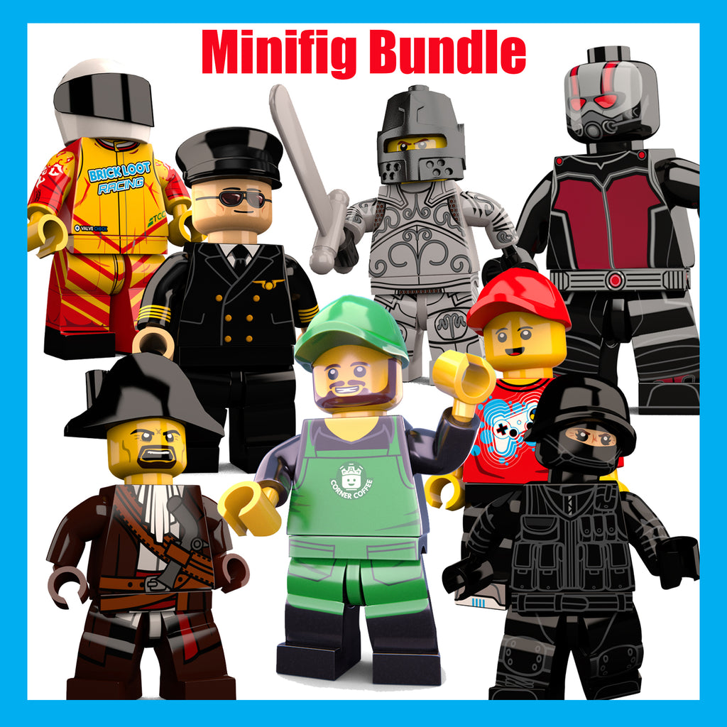 Brick-Loot-Custom-LEGO-Minifigure-BUNDLE-Pick-3