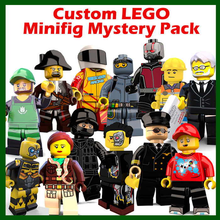 Custom Printed Minifigure Mystery Pack - 100% LEGO Elements