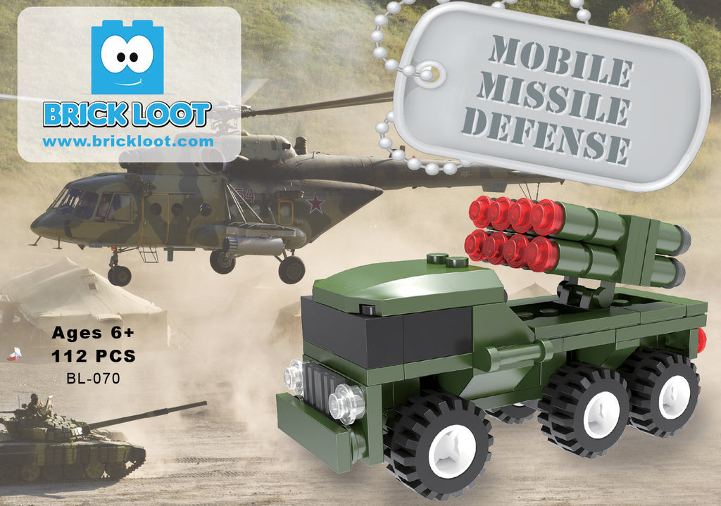 Brick-Loot-Exclusive-Mobile-Missile-Defense-Military-Truck-set-100%-LEGO®-Compatible
