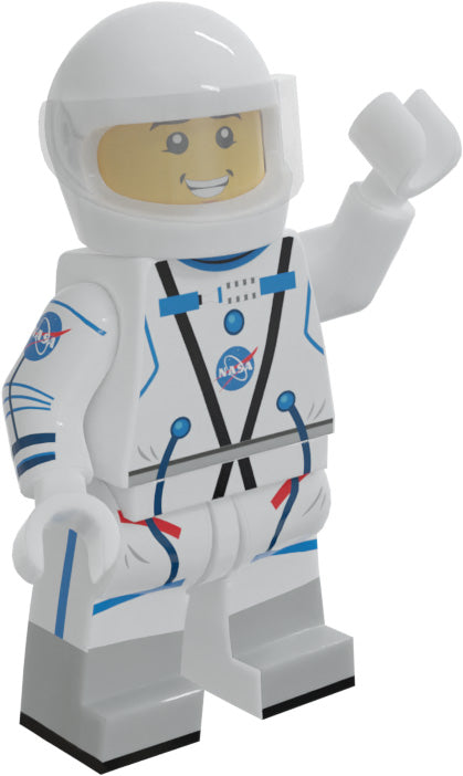 Brick Loot Exclusive NASA Astronaut Custom Minifigureon LEGO® parts LIMITED EDITION