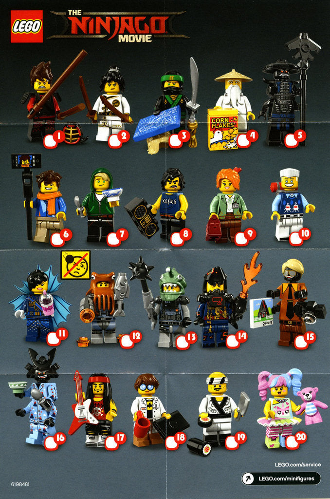 * New LEGO® Ninjago Series Minifigures COMPETE SET of 20 *