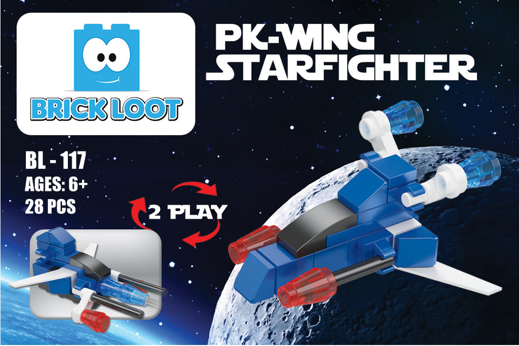 Brick-Loot-Exclusive-Mini-PK-Wing-Starfighter-2-in-1-set-100%-LEGO®-Compatible