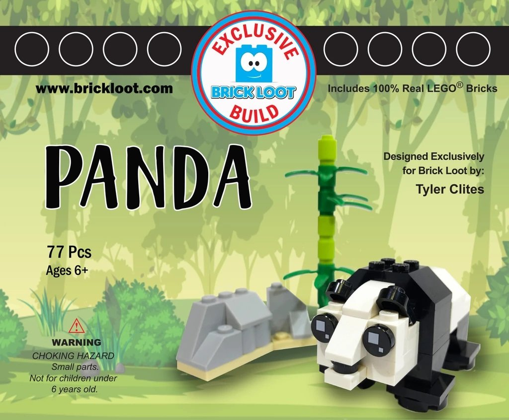 Exclusive-Brick-Loot-Build-Custom-LEGO-Set-100%-LEGO-Bricks-Panda