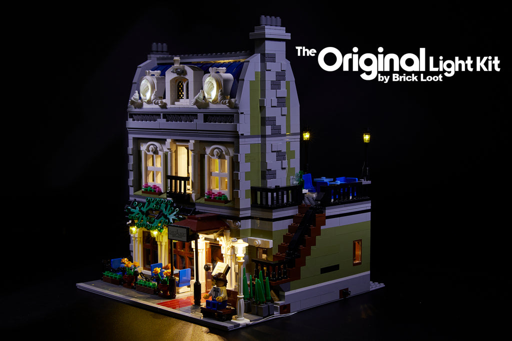 Brick Loot LED Lighting Kit for LEGO® Parisian Restaurant set 10243 - interior and exterior lights in the front and back!