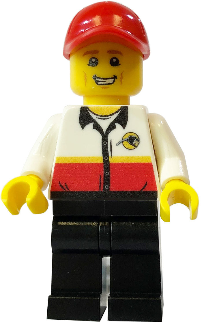 Brick Loot Exclusive Phil The Gas Attendant Custom Printed LEGO® Minifigure LIMITED EDITION