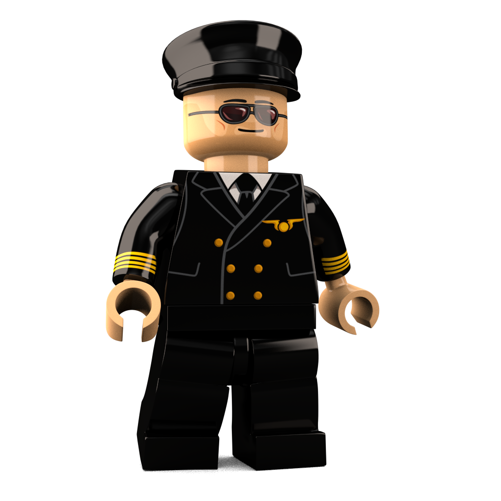 Brick Loot Exclusive The Aviator Custom LEGO® Minifigure LIMITED EDITION