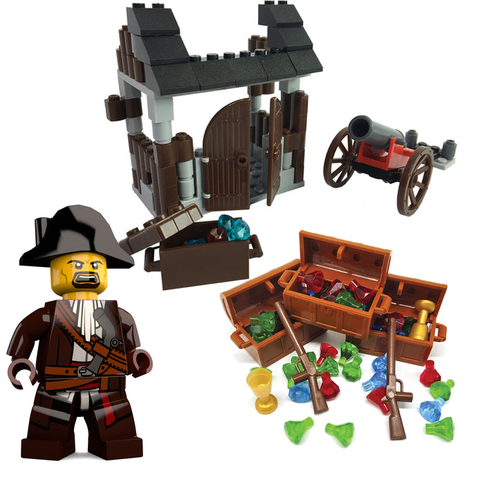 Pirate Bundle - Pirate's Cove, Pirate LEGO Minifigure and Fun Pack