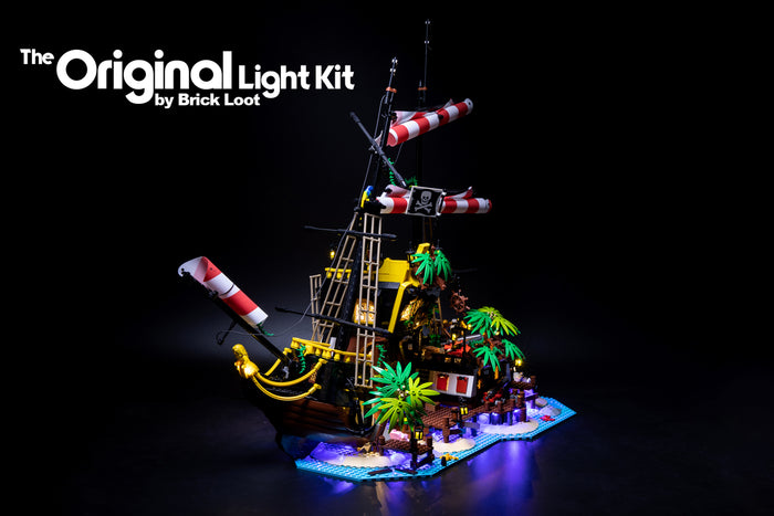LED Lighting Kit for LEGO Ideas Pirates of Barracuda set 21322