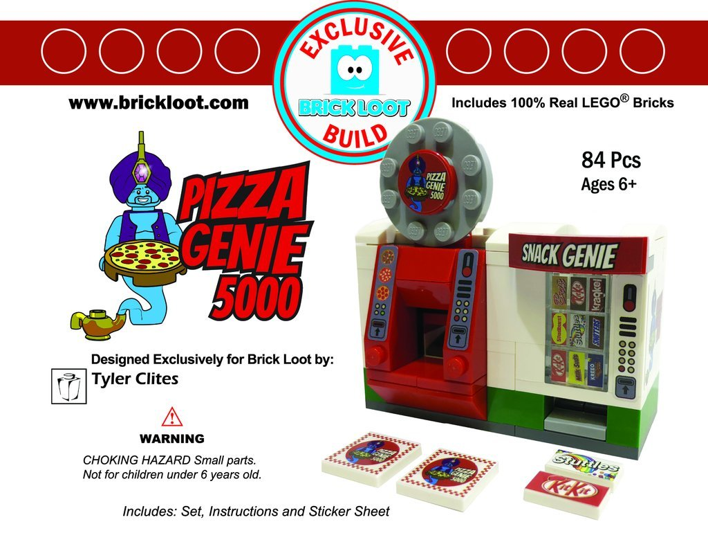 Exclusive-Brick-Loot-Build-Custom-LEGO-Set-100%-LEGO-Bricks-Pizza-Genie-5000