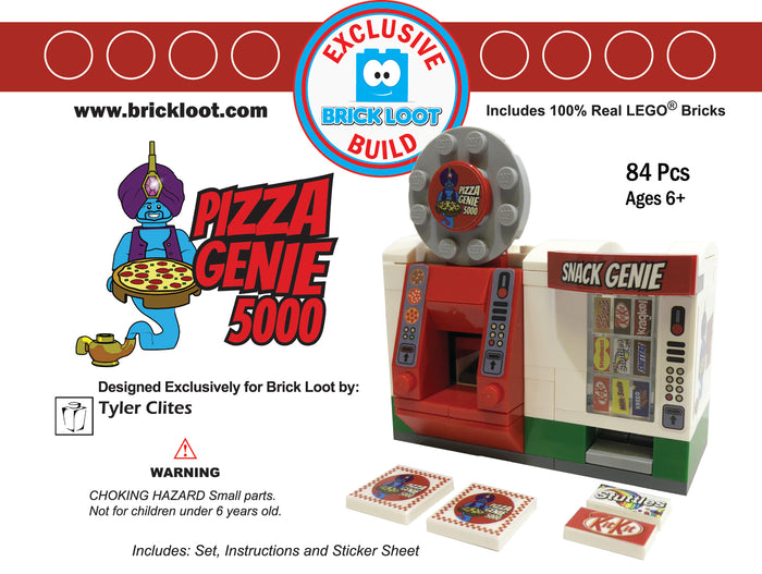 Exclusive Brick Loot Pizza Genie 5000 by Tyler Clites - 100% LEGO Bricks
