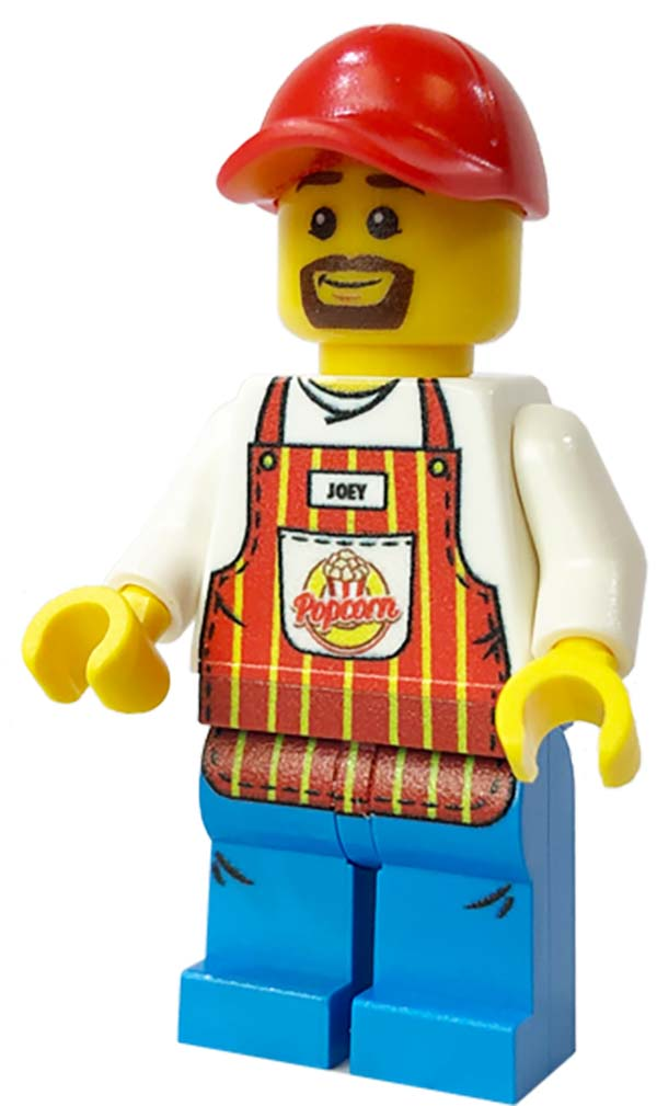 Brick Loot Exclusive Popcorn Cart Vendor Custom LEGO® Minifigure LIMITED EDITION