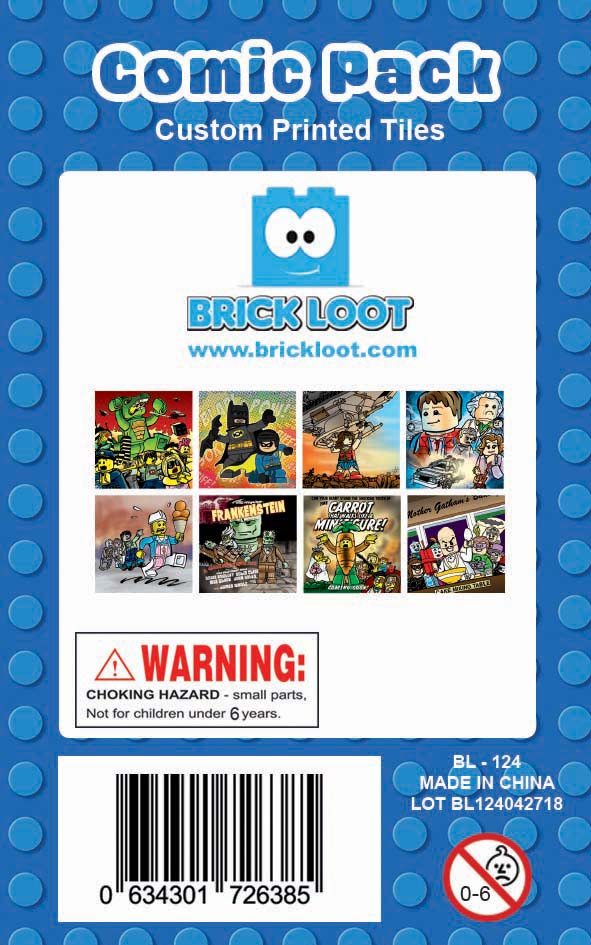 Brick-Loot-Custom-LEGO-Compatible-Tile-Pack-Comic-Comics